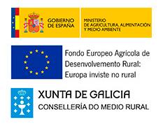 logotipo fondo europeo agricola, xunta galicia y ministerio agricola